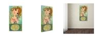 "Trademark Global Wyanne 'Big Eyed Girl Bon Appetit' Canvas Art - 24"" x 47"""