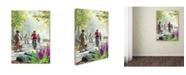 "Trademark Global The Macneil Studio 'Cycling Family' Canvas Art - 35"" x 47"""