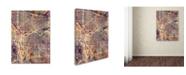 "Trademark Global Michael Tompsett 'Portland Oregon Street Map II' Canvas Art - 24"" x 32"""