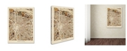 "Trademark Global Michael Tompsett 'Portland Oregon City Street Map II' Canvas Art - 24"" x 32"""