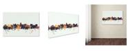 "Trademark Global Michael Tompsett 'Madison Wisconsin Skyline' Canvas Art - 22"" x 32"""