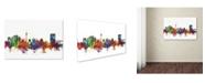 "Trademark Global Michael Tompsett 'Tehran Iran Skyline IV' Canvas Art - 30"" x 47"""