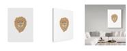 "Trademark Global Jessmessin 'Lion' Canvas Art - 35"" x 47"""