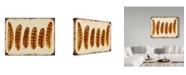 "Trademark Global Jean Plout 'Vintage Feather Study Orange' Canvas Art - 35"" x 47"""