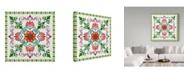 "Trademark Global Jean Plout 'Mandala Tile' Canvas Art - 35"" x 35"""