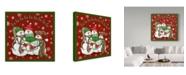 "Trademark Global Jean Plout 'Christmas Songs Snowmen' Canvas Art - 35"" x 35"""