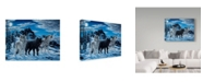 "Trademark Global Jeff Tift 'Night Howl' Canvas Art - 35"" x 47"""