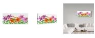 "Trademark Global Kimura Designs 'Floral Lilies' Canvas Art - 20"" x 47"""