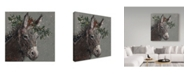 "Trademark Global Mary Miller Veazie 'Mary Beth The Christmas Donkey' Canvas Art - 24"" x 24"""