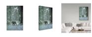 "Trademark Global Ron Parker 'Winter Encounter Wolf' Canvas Art - 22"" x 32"""