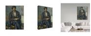 "Trademark Global Paul Cezanne 'Seated Peasant' Canvas Art - 47"" x 35"""