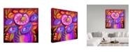 """Trademark Global Howie Green 'Pop Art Flowers' Canvas Art - 35"""" x 35"""""""