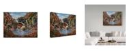 "Trademark Global James W. Johnson 'Mountain Pool' Canvas Art - 32"" x 24"""