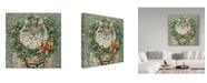 """Trademark Global Jan Benz 'Miss December' Canvas Art - 35"""" x 35"""""""