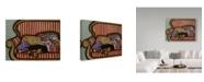 """Trademark Global Jan Panico 'Sleepy Pup' Canvas Art - 32"""" x 24"""""""