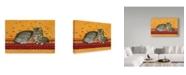 "Trademark Global Janet Pidoux 'Mother And Kittens' Canvas Art - 47"" x 30"""