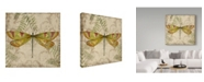 """Trademark Global Jean Plout 'Dragonfly Daydreams 1' Canvas Art - 35"""" x 35"""""""