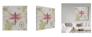 """Trademark Global Jean Plout 'Botanical Dragonfly 1' Canvas Art - 35"""" x 35"""""""