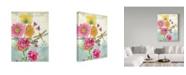 "Trademark Global Jean Plout 'Postcard Botanicals 1' Canvas Art - 35"" x 47"""