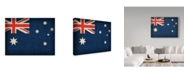 "Trademark Global Red Atlas Designs 'Australia Distressed Flag' Canvas Art - 47"" x 35"""
