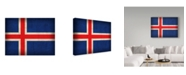 """Trademark Global Red Atlas Designs 'Iceland Distressed Flag' Canvas Art - 24"""" x 18"""""""