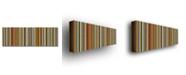 "Trademark Global Michelle Calkins 'Comfortable Stripes VII' Canvas Art - 24"" x 8"""