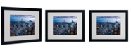 "Trademark Global Yakov Agani 'New York City, NY' Matted Framed Art - 20"" x 16"""