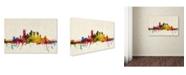 "Trademark Global Michael Tompsett 'Pittsburgh, Pennsylvania' Canvas Art - 24"" x 16"""