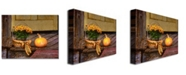 "Trademark Global Lois Bryan 'Pumpkin on the Porch' Canvas Art - 47"" x 30"""