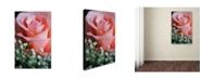 """Trademark Global Monica Fleet 'Snug Blossom' Canvas Art - 47"""" x 30"""""""
