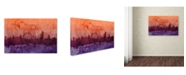 "Trademark Global Michael Tompsett 'London England Skyline VI' Canvas Art - 47"" x 30"""