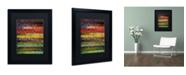 "Trademark Global Michelle Calkins 'Brocade and Stripes 3' Matted Framed Art - 20"" x 16"""