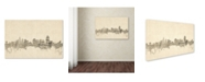 "Trademark Global Michael Tompsett 'Cincinnati Ohio Skyline Sheet Music' Canvas Art - 22"" x 32"""