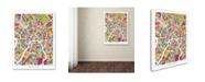 "Trademark Global Michael Tompsett 'Moscow City Street Map II' Canvas Art - 35"" x 47"""