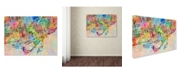 "Trademark Global Michael Tompsett 'Toronto Street Map' Canvas Art - 35"" x 47"""