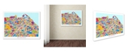 "Trademark Global Michael Tompsett 'Edinburgh Street Map III' Canvas Art - 24"" x 32"""