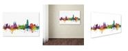 "Trademark Global Michael Tompsett 'Barcelona Spain Skyline' Canvas Art - 22"" x 32"""