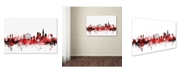 "Trademark Global Michael Tompsett 'London England Skyline 2' Canvas Art - 30"" x 47"""