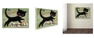 "Trademark Global Vintage Apple Collection 'Blackcat Green 2' Canvas Art - 14"" x 19"""