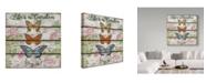 "Trademark Global Jean Plout 'Country Garden Butterfly' Canvas Art - 14"" x 14"""