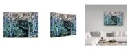 "Trademark Global Jeff Tift 'Moose Hiding' Canvas Art - 14"" x 19"""