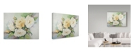 "Trademark Global Joanne Porter 'Cluster Of Yellow Roses' Canvas Art - 14"" x 19"""
