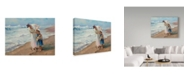 "Trademark Global Steve Henderson 'Beach Side Diversions' Canvas Art - 14"" x 19"""