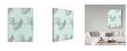 "Trademark Global Joyce Bantock 'Sage Paisley' Canvas Art - 14"" x 19"""