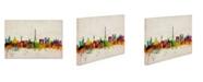 "Trademark Global Michael Tompsett 'Paris Skyline' Canvas Art - 14"" x 19"""