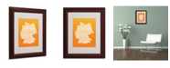 "Trademark Global Michael Tompsett 'ORANGE-Germany Regions Map' Matted Framed Art - 14"" x 11"""