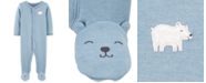 Carter's Baby Boys Polar Bear Footed Pajamas