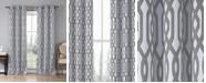 """Duck River Textile Ashmont 38"""" x 84"""" Trellis Print Blackout Curtain Set"""