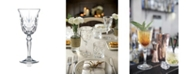Lorren Home Trends Melodia Crystal Wine Glass - Set of 6