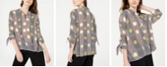 Alfani Petite Geometric-Print Blouse, Created for Macy's